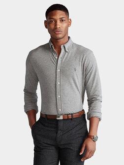 Cotton grey shirt  - 1