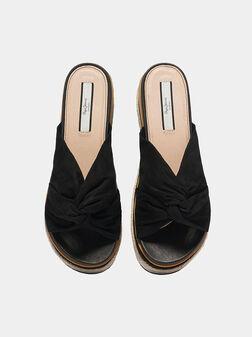 WICK Platform sandals in black color - 1