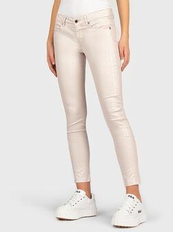 Розов панталон с бляскав ефект - 1