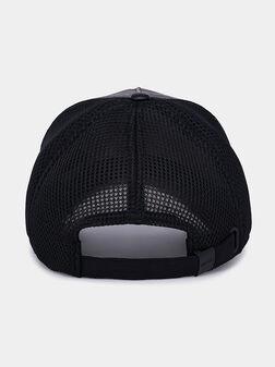 Кожена бейзболна шапка с лого бродерия - 1