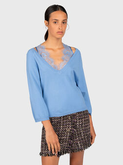 Sweater with lace details - 1