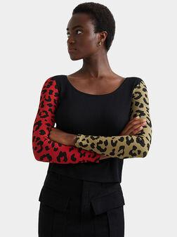 Блуза IBORY с рипсена текстура - 1