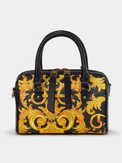 Handbag with contrasting print - 1