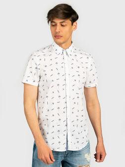 Риза SUNSET в бял цвят - 1