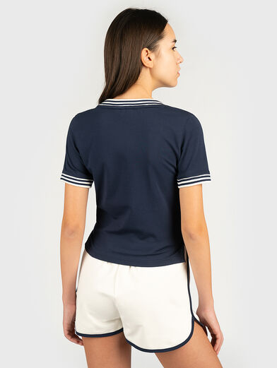 HEBE T-shirt with contrasting neckline - 2