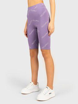 Purple short leggings JANELLE - 1