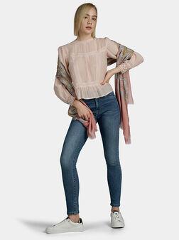 Блуза с бродирани детайли BLANCHE - 1