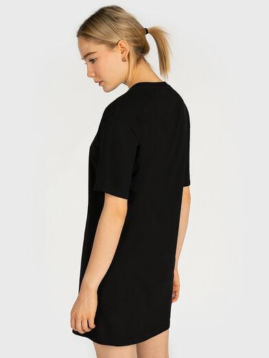 Cotton tee dress with maxi logo - 3