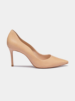 Beige shoes with sharp toe - 1