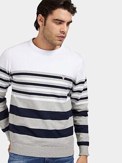 Пуловер на райе JUSTYN - 1
