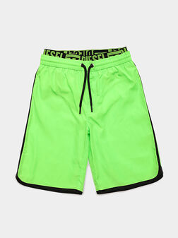 Swim shorts with branded waistband - 1