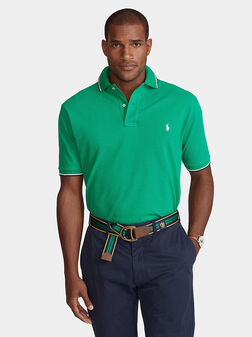 Cotton polo-shirt with logo embroidery - 1
