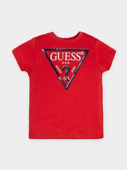 Тениска в червен цвят - 1