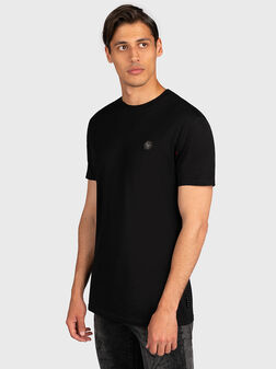 Black T-shirt with logo patch - 1
