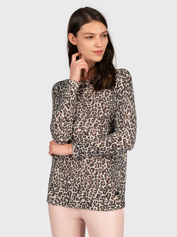 INES Sweater with animal print - 1