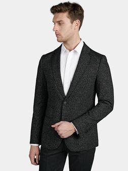 Slim jacket in black color - 1
