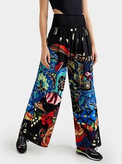Elastic waist wide trousers Osaкa - 1