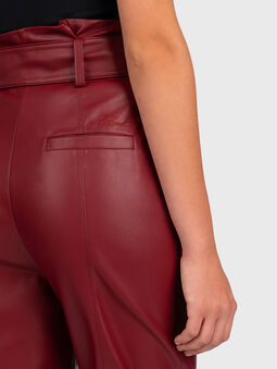 Faux leather pant - 4
