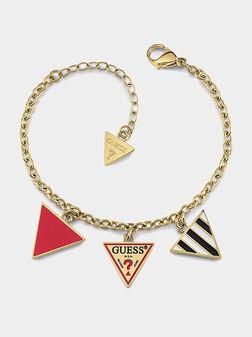Logo charm bracelet in gold color - 1