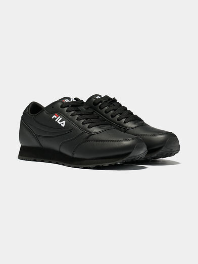ORBIT JOGGER LOW Black sneakers with logo embroideries - 2