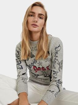 Пуловер PALOMA с графити принт - 1