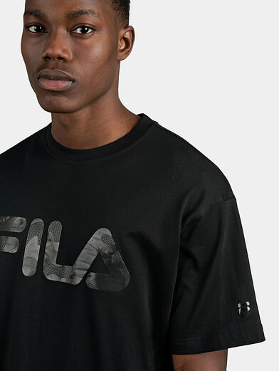 Black cotton T-shirt - 4