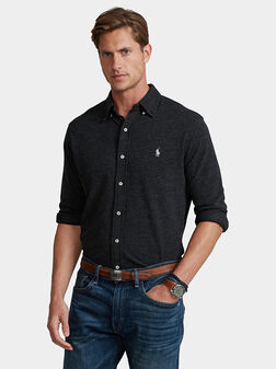 Black cotton shirt - 1