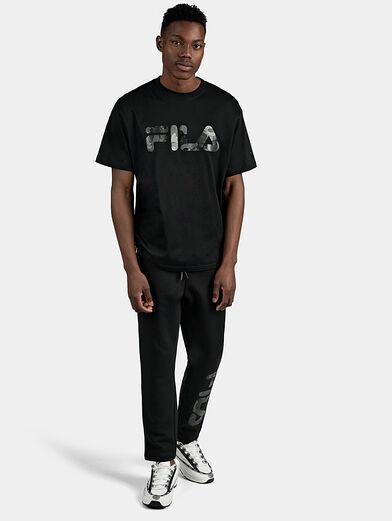 Black cotton T-shirt - 2