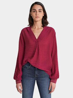 Блуза с контрастен гръб - 1