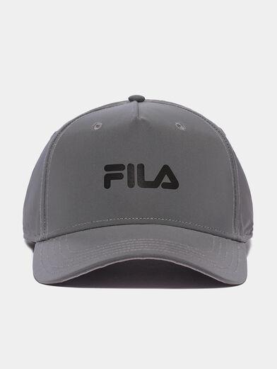 Unisex grey baseball hat with logo - 1