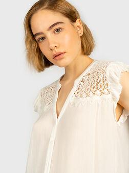Бяла риза с къси ръкави PIA - 1
