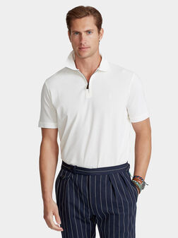 White polo-shirt with zip - 1