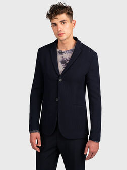 Синьо спортно сако - 1