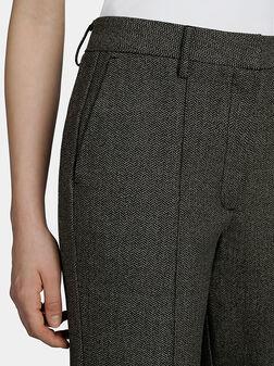 Панталон в сив цвят ROSENDA - 1