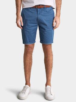 Къси панталони в син цвят - 1
