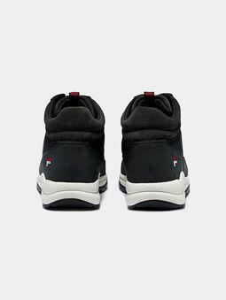 ALPHA MID Black high-top sneakers - 4