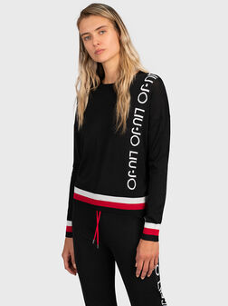 Пуловер с контрастен лого брандинг - 1