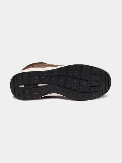 ALPHA MID Black high-top sneakers - 5