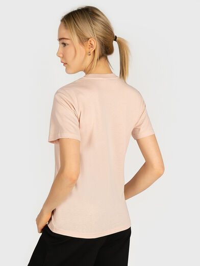 Cotton T-shirt in pink color - 3