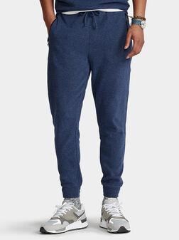 Син спортен панталон - 1