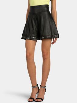 AMELIA Eco-leather shorts - 1