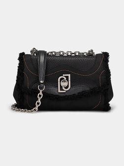 Black crossbody bag with logo detail - 1