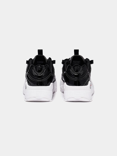 D-FORMATION Patent look sneakers - 4