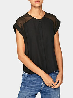 ERIN Blouse with sheer details - 1