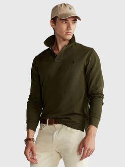Блуза в зелен цвят - 1