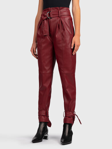 Faux leather pant - 1