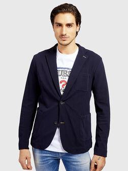 MYRON Cotton blazer in navy blue - 1