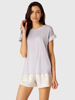 Пижама SHEER с контрастни детайли - 1