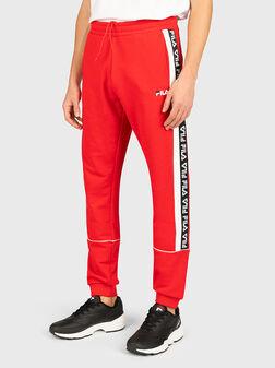 Спортен панталон с лого брандинг TEVIN - 1