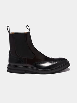 Chelsea boots with brogue perforations - 1